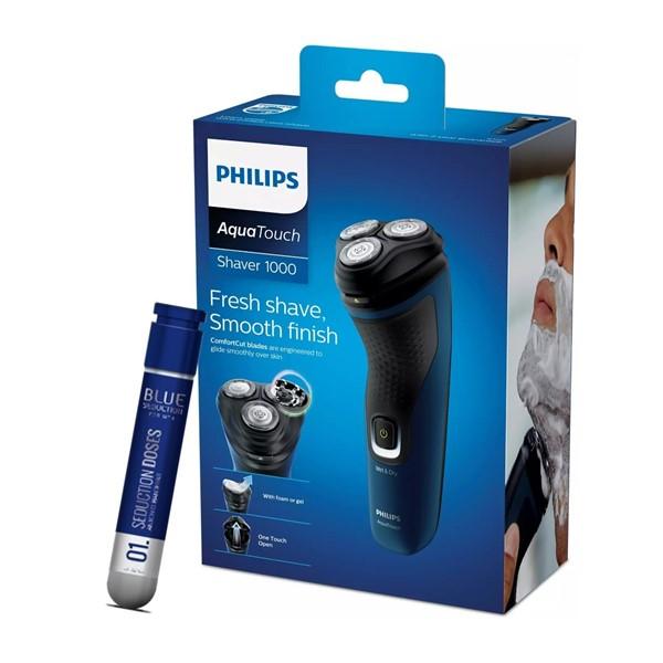 Afeitadora Philips Aqua Touch Modelo Serie 1000 + Regalo Perfume Antonio Banderas x 30 ml  alt