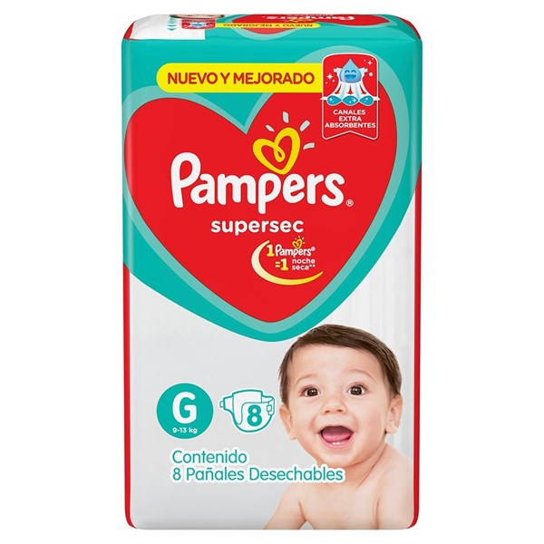 Pañales Pampers Supersec G X 8 Unidades alt