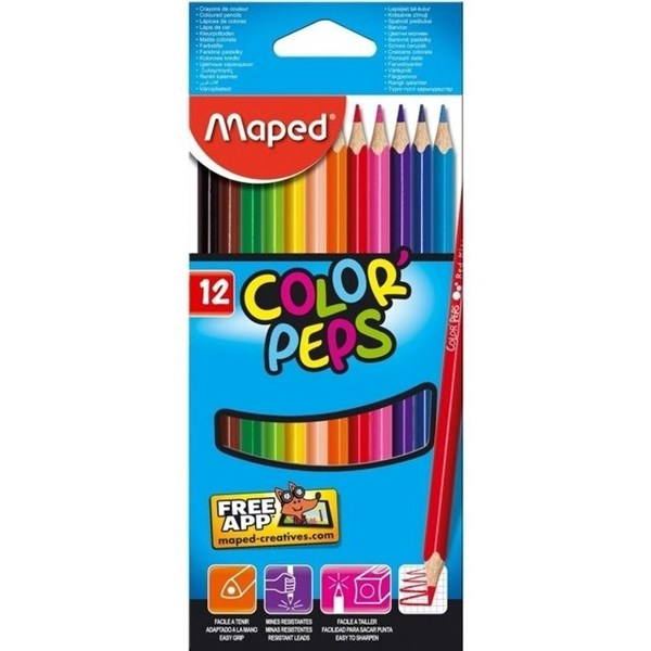 Lápices De Colores Maped x12 Unidades
