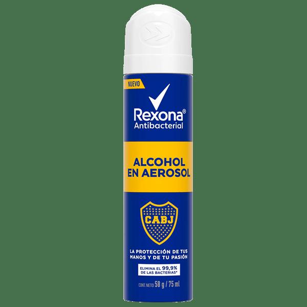 REXONA Alcohol en aerosol BOCA JUNIORS ANTIBACTERIAL x 75 ml