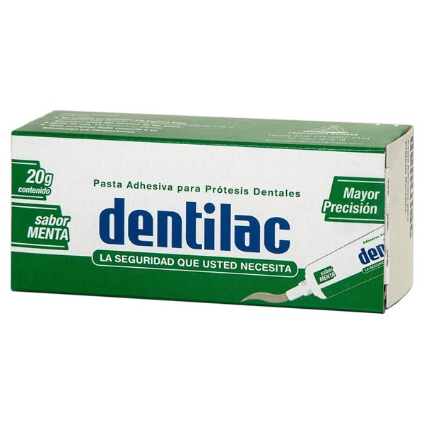 Pasta Dental Adhesiva Dentilac Sabor Menta X 20 Gramos