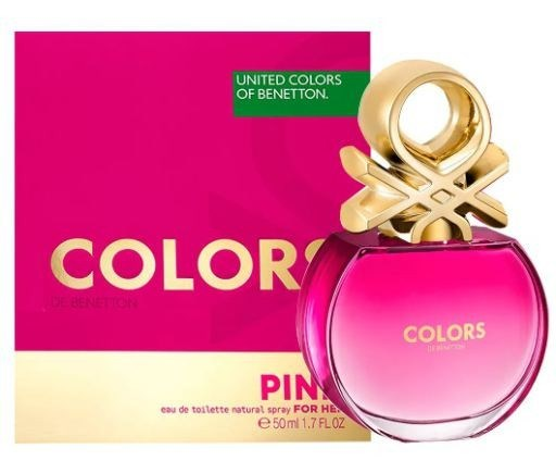 Benetton Eau De Toilette x 50ml Colors Pink