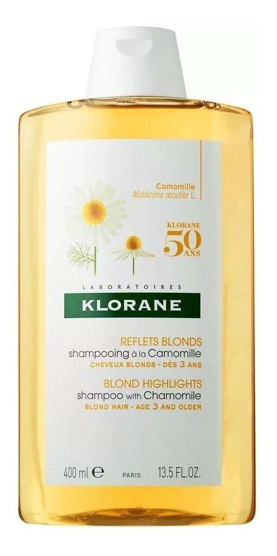 Shampoo Klorane Camomilla Reflejos Rubios Ilumina 400 Ml alt