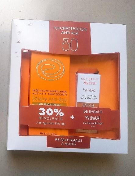 Avene Protector Solar Crema Spf 50+ Anti-age X 50ml + Regalo YsthéAL Antiarrugas 3ml