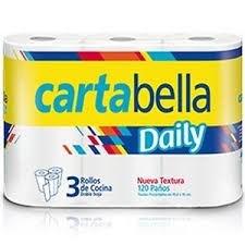 ROLLO COCINA CARTABELLA DAILY x 3 UNIDADES
