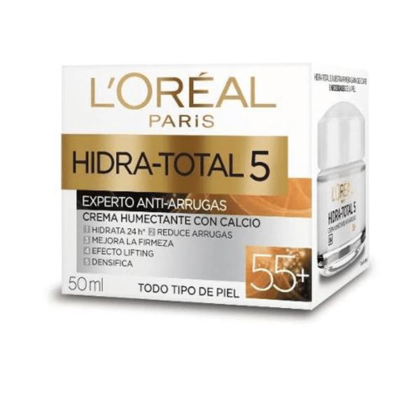 Loreal - Crema Hidra Total 5 Con Calcio 55+