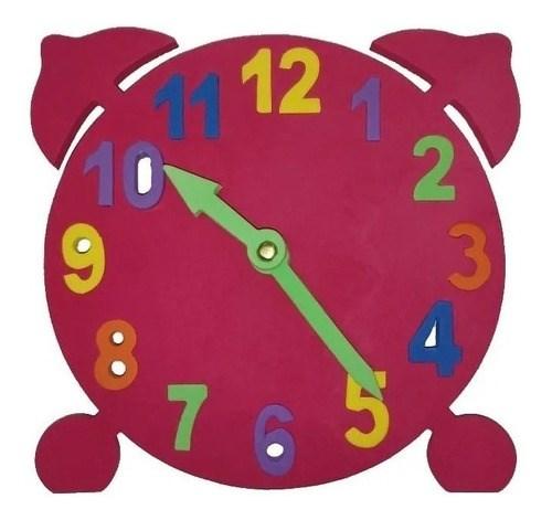 Reloj Puzzle Didáctico Chico De Goma Eva  alt
