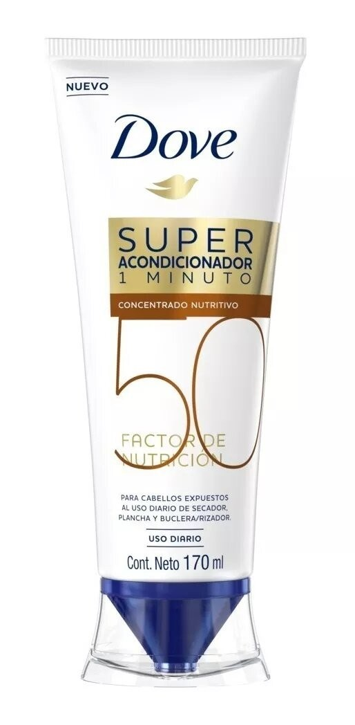 Acondicionador Dove Concentrado Super Factor de Nut. 50 x 170 ml.