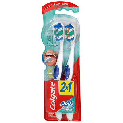 Cepillo Dental Colgate 360 Suave 2X1