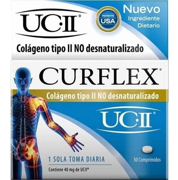 Curflex Colageno Tipo Ii No Desnaturalizado Artrosis 30 Comprimidos