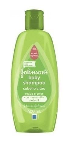 Shampoo Johnson's Baby Para Cabello Claro X 400 Ml