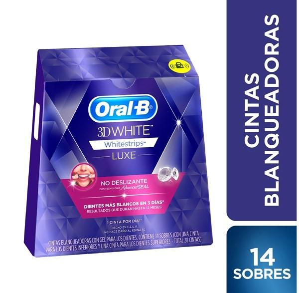 Oral-B Tiras Blanqueadoras 3d White Lux (14 Sobres)
