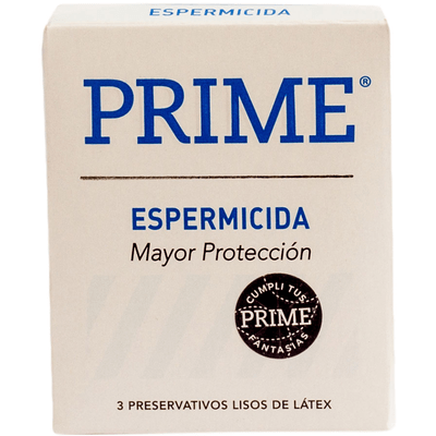 Preservativo Prime Espermicida X 3 Unidades