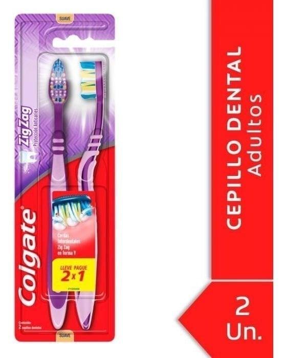 Cepillo Dental Colgate Zig Zag Plus Soft 2 Unidades