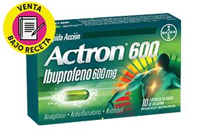 Actron Ibuprofeno 600 Mg X 10 Capsulas Blandas