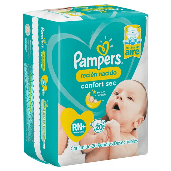 Pampers Confort Sec Rn - Cant 20