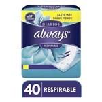 Protectores Diarios Always Respirable 40 Un #1