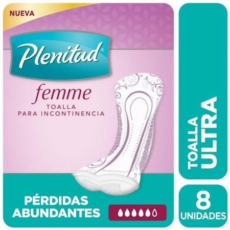 Plenitud Femme Ultra Sin Alas X 8 Toallas