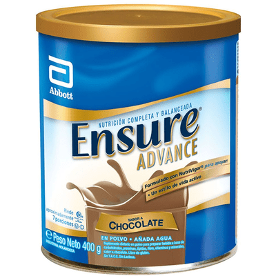 Ensure Advance Chocolate Polvo X 400 Gr