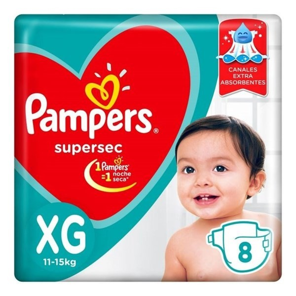 Pampers Supersec X-gde 8 Pañales
