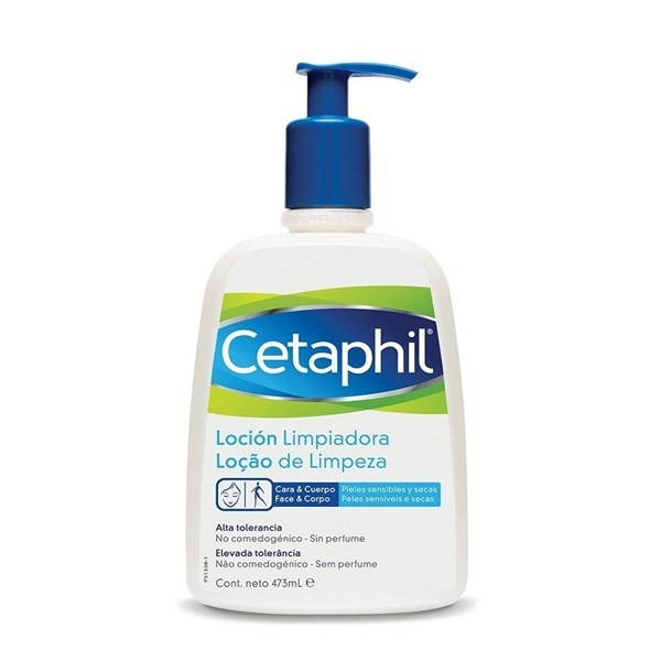 Cetaphil Loción Facial X 473 Ml Limpiador Liquido Para Piel Sensible