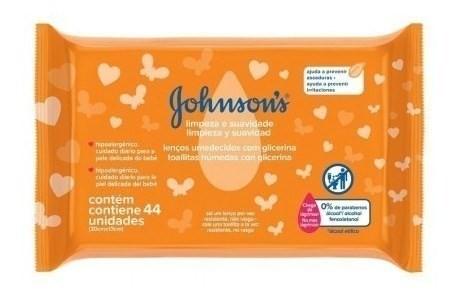 Toallitas Humedas Johnson's Baby Limepieza & Suavidad X 44 U