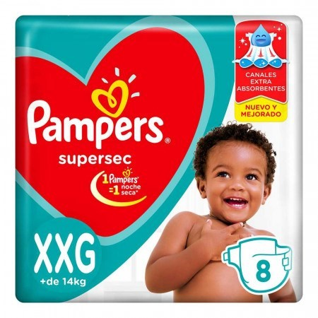 Pampers Supersec X-xgde 8 Pañales