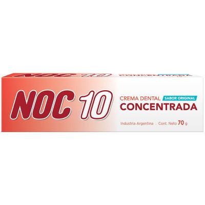 Crema Dental Noc 10 Concentrada X 70 Gr