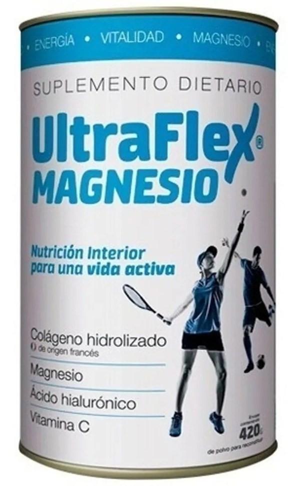 Ultraflex Magnesio Colágeno Hidrolizado En Polvo X 420 Gr