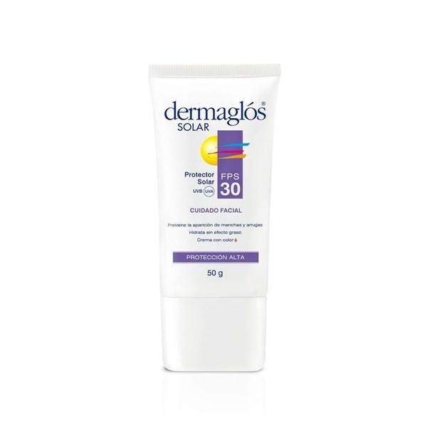 Dermaglós Protector Solar Fps 30 Hidratante Facial X 50 Gr