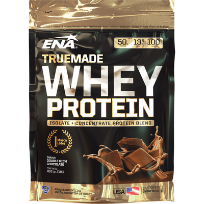 Whey Protein True Made Double Rich Chocolate Isolate + Concentrate 2,05 Lb X 930 Gr