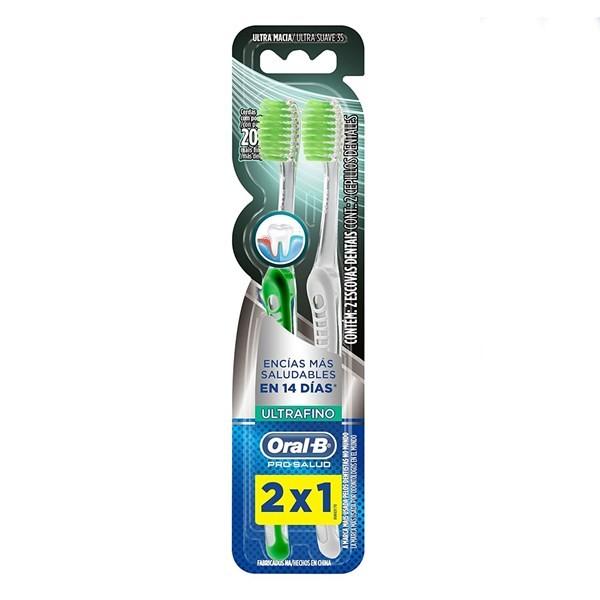 Cepillo Dental X 2un Pro-salud Ultrafino 2x1