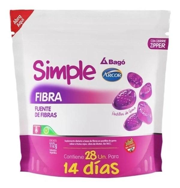 Suplemento Simple Bago Fibra X 28 Pastillas De Goma