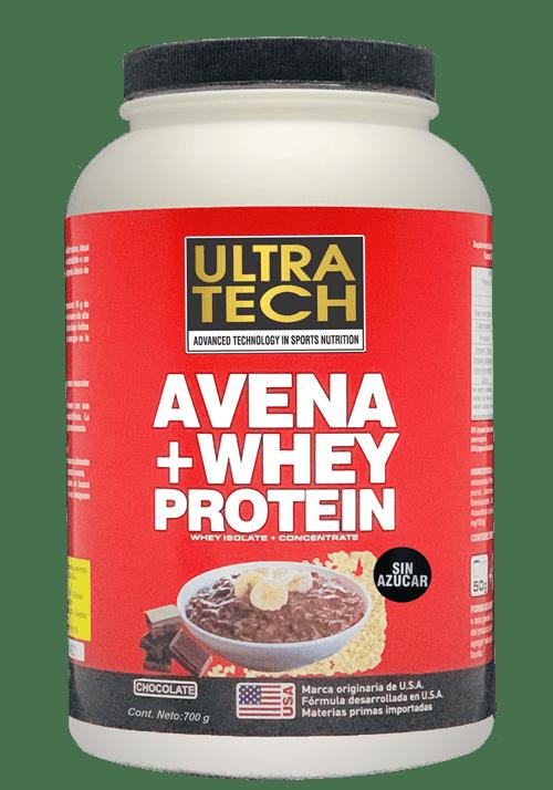 Ultra Tech Avena + Whey Protein X 700 Gr Chocolate