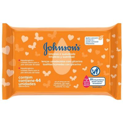 Johnson Baby Toallitas Húmedas Limpieza & Suavidad X 44 Un