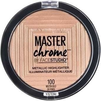 Iluminador Maybelline Master Chrome Molten Gold X 24 Mg