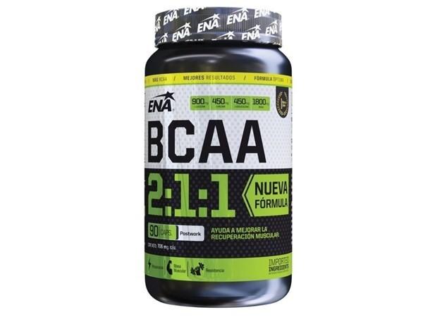 Suplemento ENA Aminoacidos BCAA 2:1:1 x90 cápsulas #1