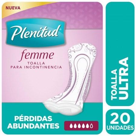 Plenitud Femme Ultra Sin Alas X 20 Toallas