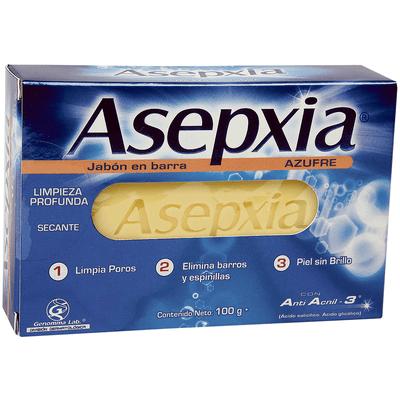 Asepxia Azufre Hf Jabón X 100 Gr