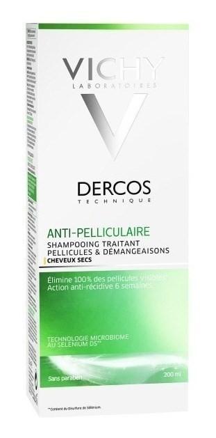 Vichy Shampoo Dercos Anticaspa Sensitive Cabello Seco 200 Ml