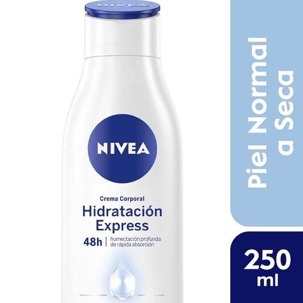 Crema Corporal Nivea Hidratación Express Piel Normal A Seca 250 Ml Botella