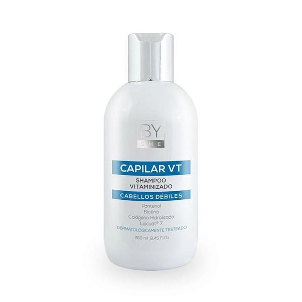 By She Shampoo Capilar Vitamina Para Cabellos Débiles 250ml