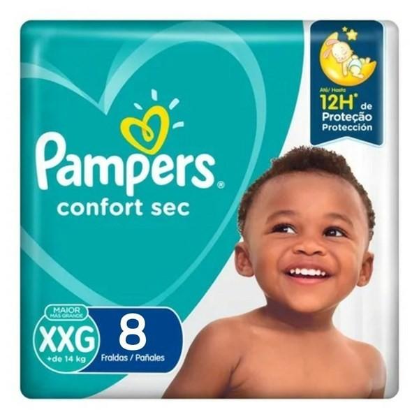 Pampers Confort Sec Max Xxg X8