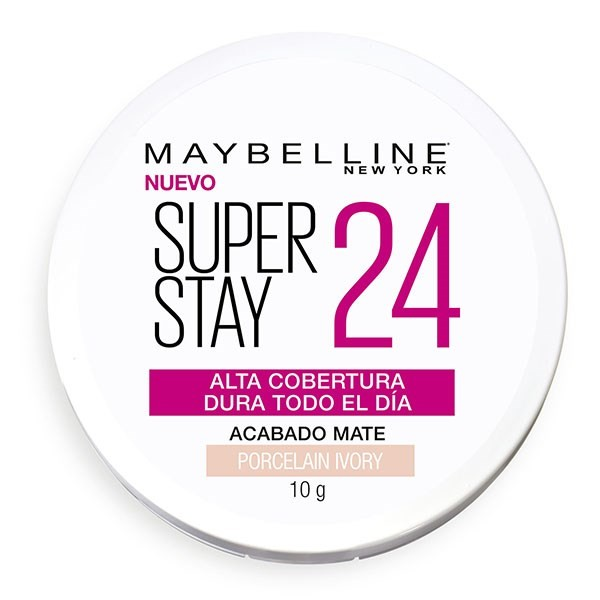Polvo Compacto Maybelline Super Stay 24hs Porcelain Ivory  X 10 Gr #1