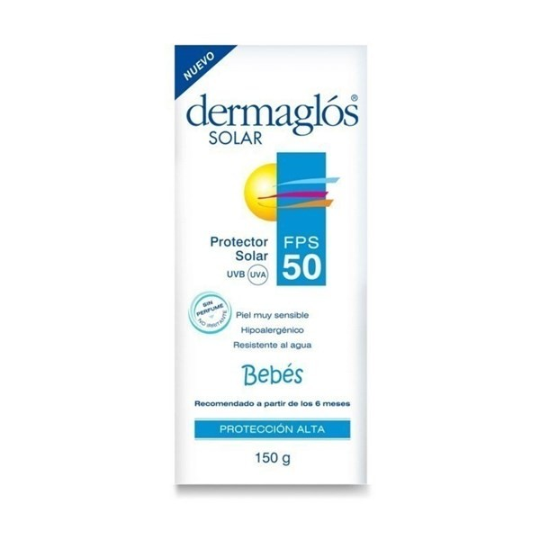 Dermaglos Protector Solar FPS 50 Bebés Crema X 150 Gr