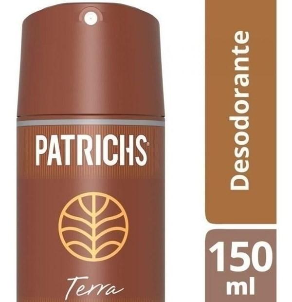 Desodorante Hombre Patrichs Terra Aerosol X 150 Ml