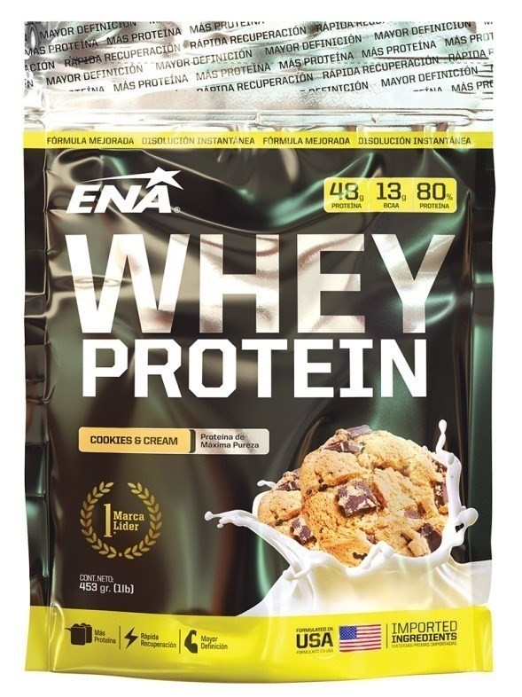 Suplementos ENA Whey Protein Cookies & Cream 453gr