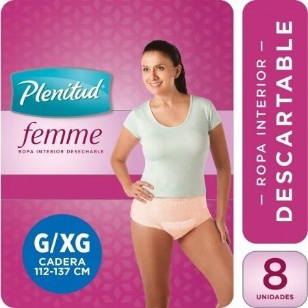 Pañales Plenitud Femme Incontinencia Moderada Talle G/xg X 8 Unidades