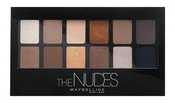 Sombra de ojos Maybelline Eye Shadow Palette The Nudes X 9.6 Gr