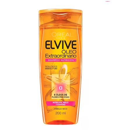 Elvive Shampoo Oleo Extraordinario Nutrición x200ml